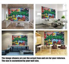 Custom 3d Photo Wallpaper Sticker Graffiti Wall Decal Vinyl Wall Stickers Wall Decorations Living Room Poster Mural Wall Stickers Aliexpress