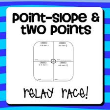 writing linear equations point slope
