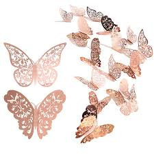 24piece Butterfly Wall Sticker Mixed 3d Buy Online In Trinidad And Tobago At Desertcart