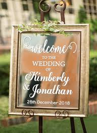 Personalized Welcome To Wedding Decal Sign For Mirror Board Removable Wedding Decorate Custom Name Date Vinyl Art Stickers S432 Welcome Sign Welcome Stickerwelcome Decal Aliexpress