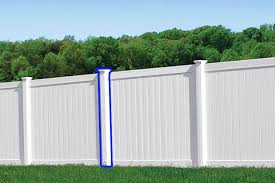Vinyl Fence Post Chesterfield Model Anchor Fence Fence Installation Company Serving All Of Michigan Since 1892