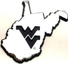 West Virginia Mountaineers State Chrome Car Emblem Sports Fanz