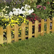 Forest Picket Fence Edging Border Edging Log Rolls Webbs Garden Centre