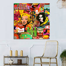 Andy Warhol Poster Painting Modern Canvas Painting Abstract Oil Painting Wall Art Pictures Cuadros For Living Room Home Decor Painting Calligraphy Aliexpress