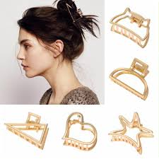claw gold hair crab clip hollow alloy
