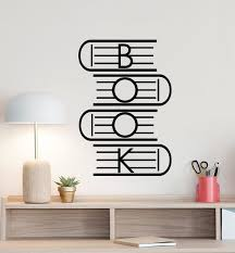 Book Wall Decal Education Science Poster Gift Books Reading Etsy