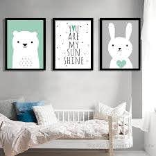 Nordic Style Kids Decoration Rabbit Posters Prints Wall Art Canvas Painting Kids Room Wall Picture Icon2 Lux Idee Chambre Enfant Chambre Bebe Idees Chambre
