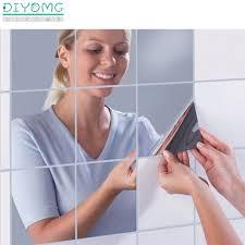Bathroom Mirror Wall Stickers Decal 3d Self Adhesive Film Plastic Mirror Stickers Tiles Home Decor Acrylic Wallpaper Decal Bestdealplus