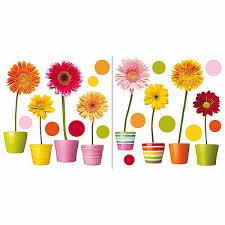 Gerberas Flowers Self Adhesive Window Decals