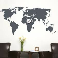 Style And Apply World Map Wall Clock Wall Decal Wayfair
