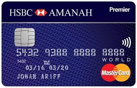 amanah premier world mastercard credit