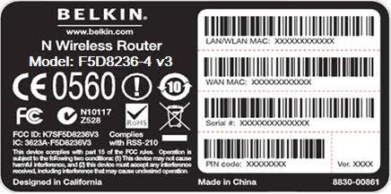Image result for belkin router model number