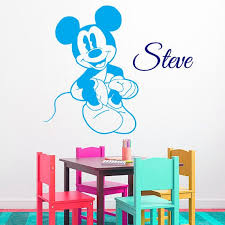 Shop Mouse Vinyl Sticker Custom Boy Personalized Name Kids Room Interior Design Nursery Decor Sticker Decal Size 33x39 Color Black On Sale Free Shipping Today Overstock 14756048