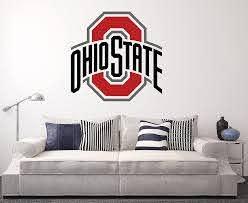 Amazon Com Ohio State Buckeyes Wall Decal Home Decor Art College Football Ncaa Team Sticker Arts Crafts Sewing