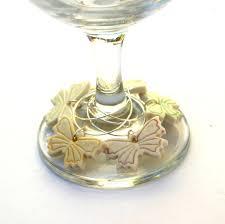 erfly wine glass charms wedding