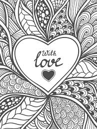 20 Free Printable Valentines Adult Coloring Pages Abstract