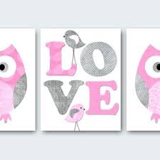 Kids Wall Art Owl Nursery Owl Decor Baby Nursery Decor Baby Girl Nursery Kids Art Baby Room Decor Nursery Print Set Of 3 Rose Gray Pink Owl Themed Baby Rooms Autoiq Co