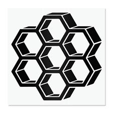 Amazon Com Honeycomb Vinyl Decal Honeybee Hive Laptop Stickers Cute Honeypot Decals Save The Bees Water Bottle Stickers Honey Jar Stickers Pantry Labels Beekeeper Decals For Tumblers Handmade