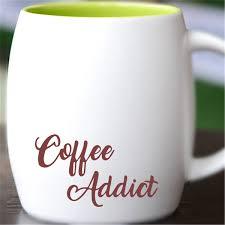 Coffee Addict Vinyl Decal Car Decal Tumbler Decal Coffee Decals Tea Decals 262 Wish