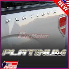 Chrome Platinum Letter F150 F250 Hood Trunk Bedside Nameplate Emblem Badge Ebay