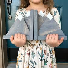Mountain Bookends Shelf Decor Nursery Decor Kids Room Etsy