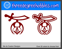 Shriner Logo With Masonic Logo Vinyl Decal For Outdoors Or Indoors Yeti Auto Mirror Decal Custom Decals Vinyl Decals