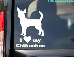 I Love My Chihuahua Vinyl Decal Sticker 7 X 5 Short Haired Dog Minglewood Trading