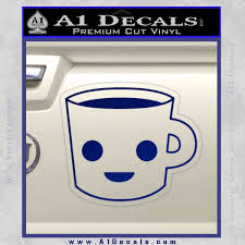 Happy Coffee Tea Cup D1 Decal Sticker A1 Decals