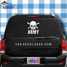 Bad Ass Army Skull Vinyl Car Decal Sticker Military Decals