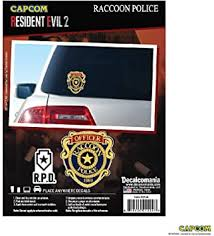 Amazon Com Resident Evil 2 Raccoon City Police Vinyl Car Decal 5 Racoon City Police Officer Badge Resident Evil Decal All Weather Proof Outdoor Rated Car Sticker Automotive