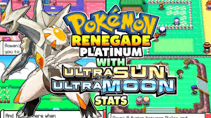 Pokemon Renegade Platinum - New Completed NDS Rom With Ultra Sun ...