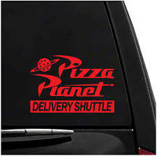 Amazon Com Pizza Planet Toy Story Animated Movies Vinyl Vehicle Sticker Arts Crafts Sewing
