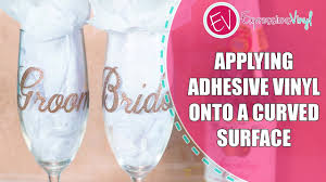 How To Apply Adhesive Vinyl On A Curved Surface Amy Youtube