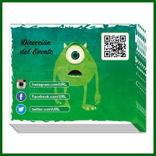 Pack 48 Invitaciones Tema Monster Mike Wazowski 499 00 En