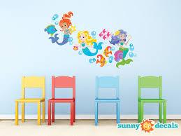 Sunny Decals Beautiful Mermaid Fabric Wall Decal Reviews Wayfair