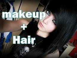 emo scene makeup and hair tutorial