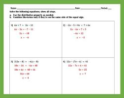 solving multi step equations practice