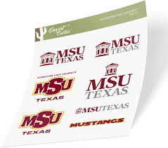 Midwestern State University Msu Mustangs Ncaa Sticker Vinyl Decal Laptop Water Bottle Car Scrapbook Type 1 1 Sheet Fan Shop Auto Accessories