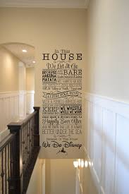 In This House We Do Disney We Let It Go Because Hakuna Matata And The Bare Necessities Will Always Be Our Gui Disney Wall Decals Disney Wall Decor Disney Wall