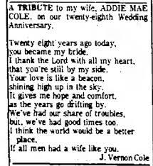 Addie Mae Cole Tribute from Husband Joseph Vernon Cole - Newspapers.com