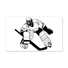 Ice Hockey Goalie 20x12 Wall Decal By Barnie Cafepress