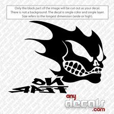 Motocross Car Decals No Fear With Skull Car Decal Anydecals Com