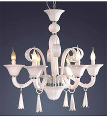 6 light coloured murano style glass