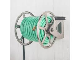 dual mounted steel garden hose reel