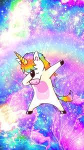cartoon unicorn and rainbow wallpaper