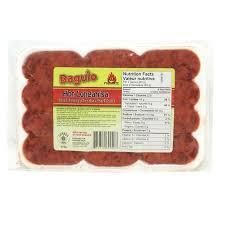 baguio hot longanisa sausage uno