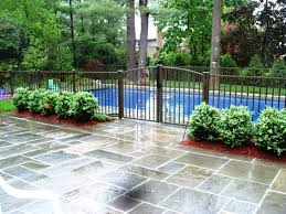 16 Pool Fence Ideas For Your Backyard Awesome Gallery Backyard Pool Landscaping Pool Fencing Landscaping Backyard Pool