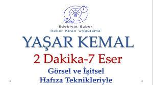 Yaşar Kemal Eserleri - HAFIZA TEKNİKLERİYLE - AYT Edebiyat - YouTube