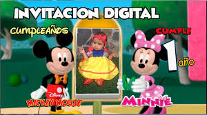 Minnie Y Mickey Mouse Video Invitacion Digital Cumpleanos Youtube