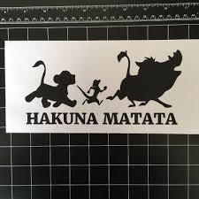 Hakuna Matata Lion King Simba Cartoon Car Window Vinyl Decal Sticker Art Decor Removable Wall Sticker L28 Aliexpress Com Imall Com